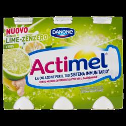 Actimel Lime Zenzero 6x100gr.