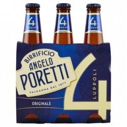 Birra Poretti 4 Bot. 3X 33cl.